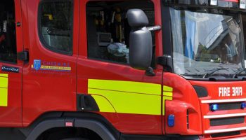 Motor cycle ablaze at Helsby