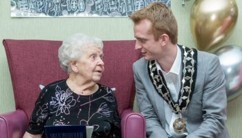Mayor drops in at Eileen's 100th birthday