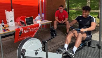 Frodsham firefighters raise over £350 at virtual open day from rowing challenge