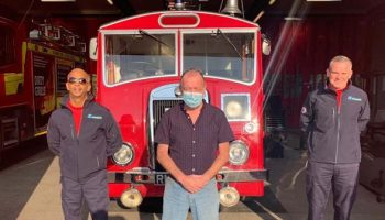 Helsby man who had heart attack while driving reunited with firefighters who helped save his life