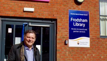MP welcomes £110,000 investment in Frodsham leisure facilities